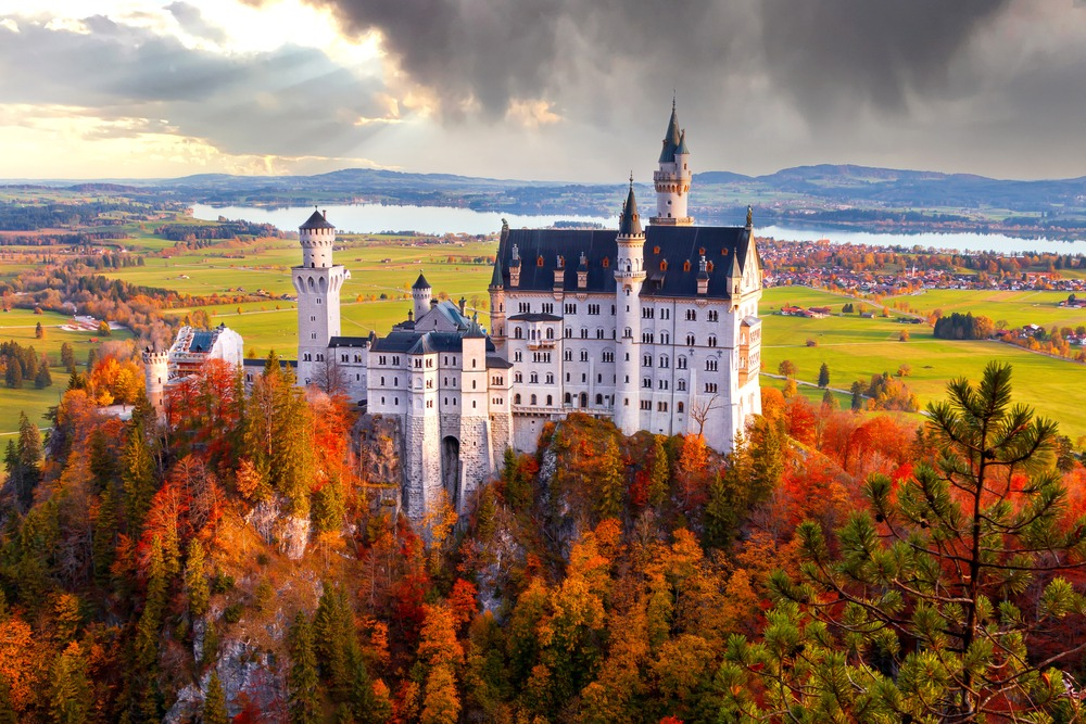 Neuschwanstein jesienią